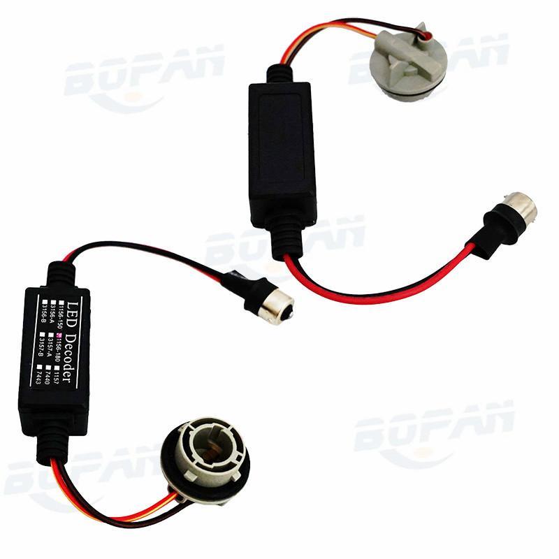 2 pz / lotto 1156 / BA15S / P21W LED Decoder Canbus Warning Error Canceller Anti Flicker Resistenza di Carico Auto Indicatori di direzione Luci
