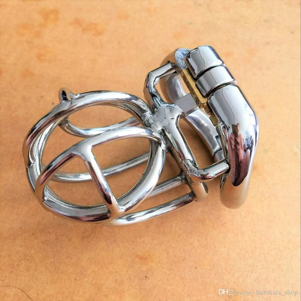 New snap ring design male 304# stainless steel 62mm chastity cages 4 sizes36mm-50mm snap ring penis SM bondage cock cage for men