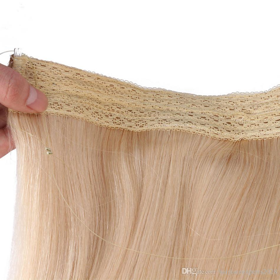 ELIBESS Flip Hair Weft Extension Blond Color 100g/pcs European Remy Fish Line Straight No Clip No Glue For White Women