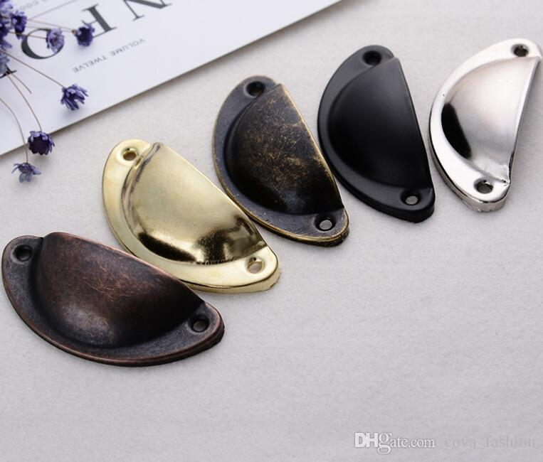 2018 Vintage Shell Shape Pull Handle Cabinet Knobs Retro Metal Kitchen  Drawer Cabinet Door Handles Furniture Knobs From Cova_fashion, $0.2    Dhgate.Com