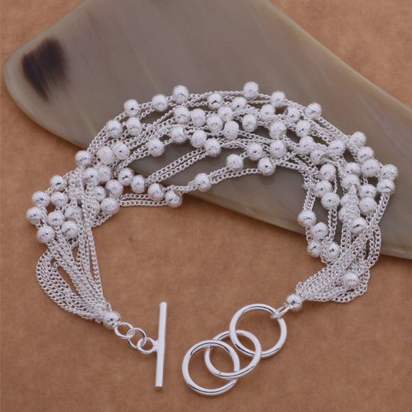 Роскошный стерлингового серебра elegent браслет из бисера кластера для женщин, девочек, жены, ну вечеринку свадьбы прекрасный шарм большой браслет браслет ювелирные изделия
