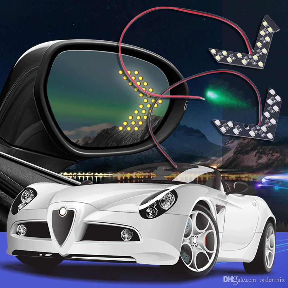 1x 14SMD LED стрелка панель для автомобиля зеркало заднего вида индикатор сигнала поворота