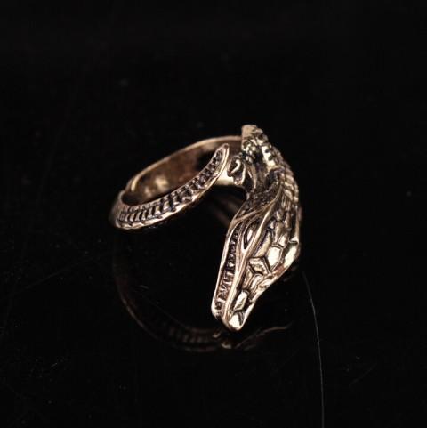 Симпатичные крокодил открытые кольца женские регулируемые титановые стальные кольца готические украшения для девочек / дам