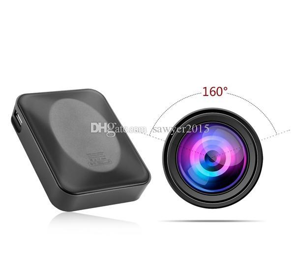 NO Hole 1080P power bank pinhole Camera 10000mah Power Bank video camera with 160 degree Wide Angle Lens Motion Detection battery MINI DV