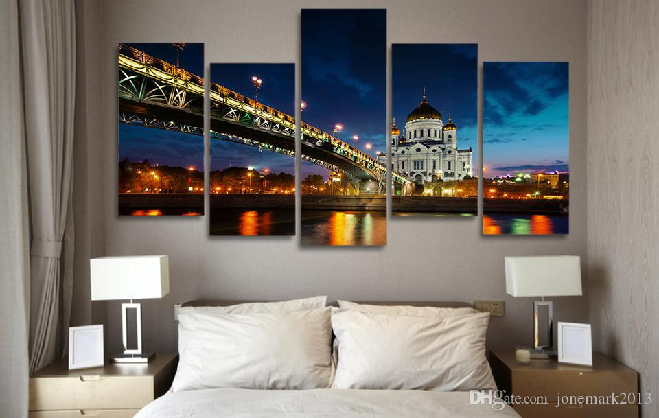 Framed HD Printed Russia Moscow Cathedral Christ Picture Wall Art Canvas Print Room Decor Poster Canvas Painting Wall