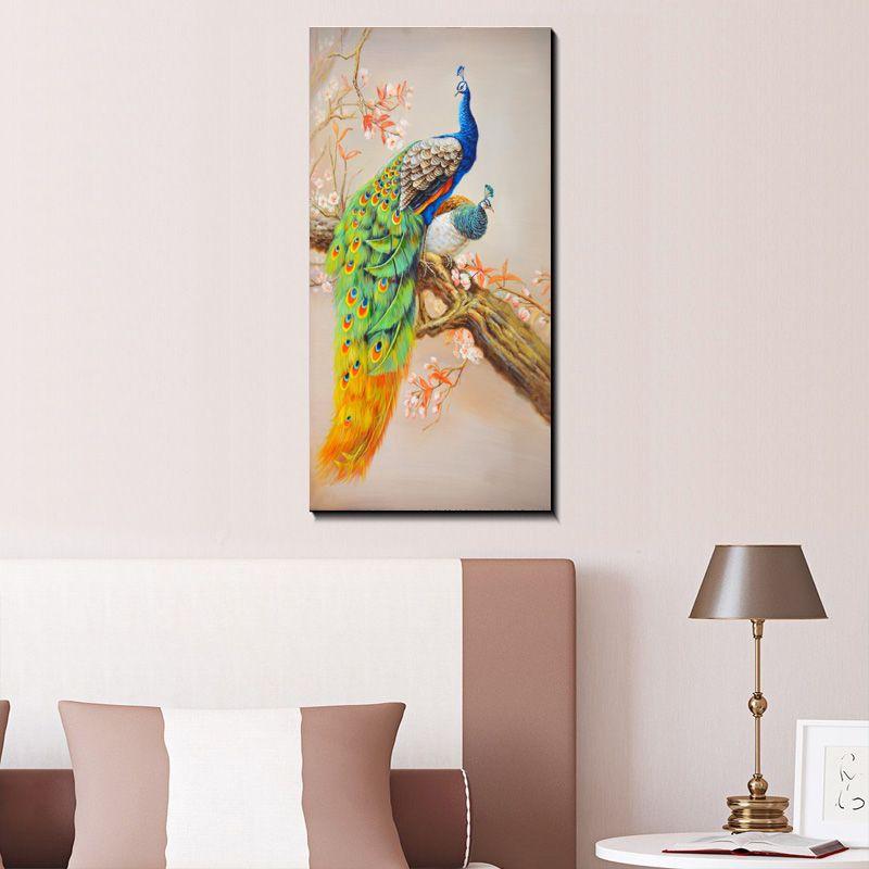 Modernos Pavões Bonitos pintura imagem arte abstrata impressão na lona, lona animal poster pintura impressões, parede Home decor poster