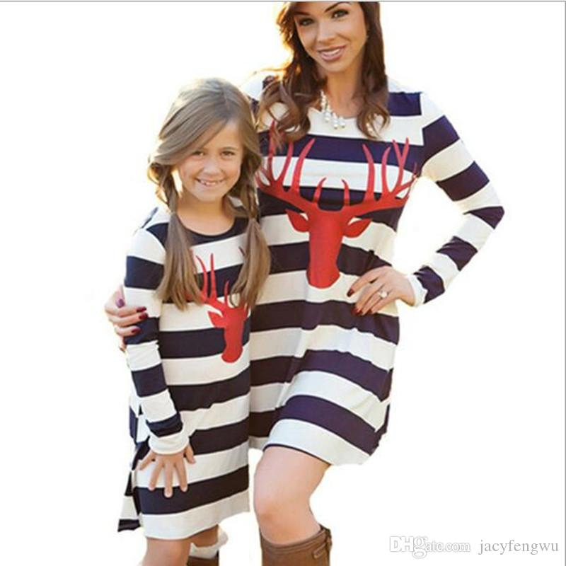 Mother And Daughter Clothes Family Matching Christmas Dresses for Girl  Skirt Baby Outfit Girls Fall Fashion Children Costume QZZW076 Mother And  Daughter ... - Mother And Daughter Clothes Family Matching Christmas Dresses For