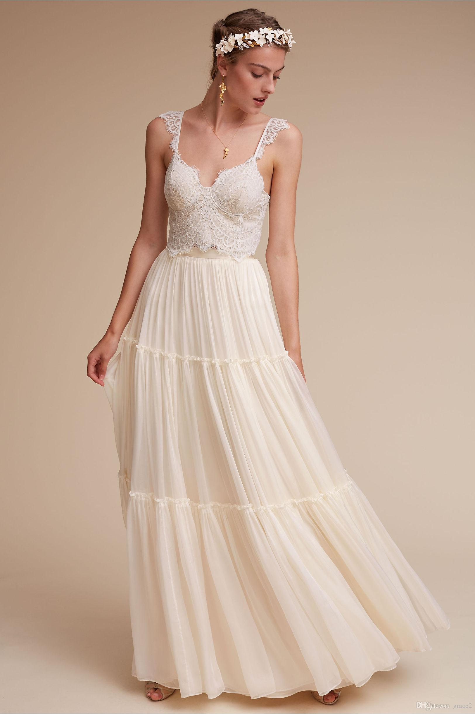 Discount romantic bohemian wedding dresses summer 2017 bhldn ivory see larger image ombrellifo Gallery