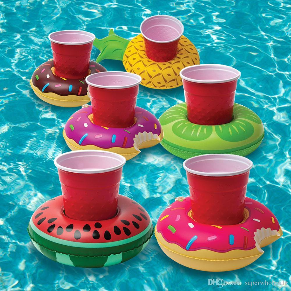 2019 Donut Pool Drink Holder Floats Pineapple Watermelon Kiwi