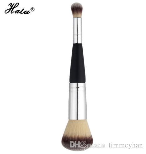 HaLu Dupla Acabou Pincéis de Maquiagem Sombra de Olho Blush Sintético Escovas de Cabelo Cosméticos De Madeira Profissional Único Make Up Ferramenta de Beleza