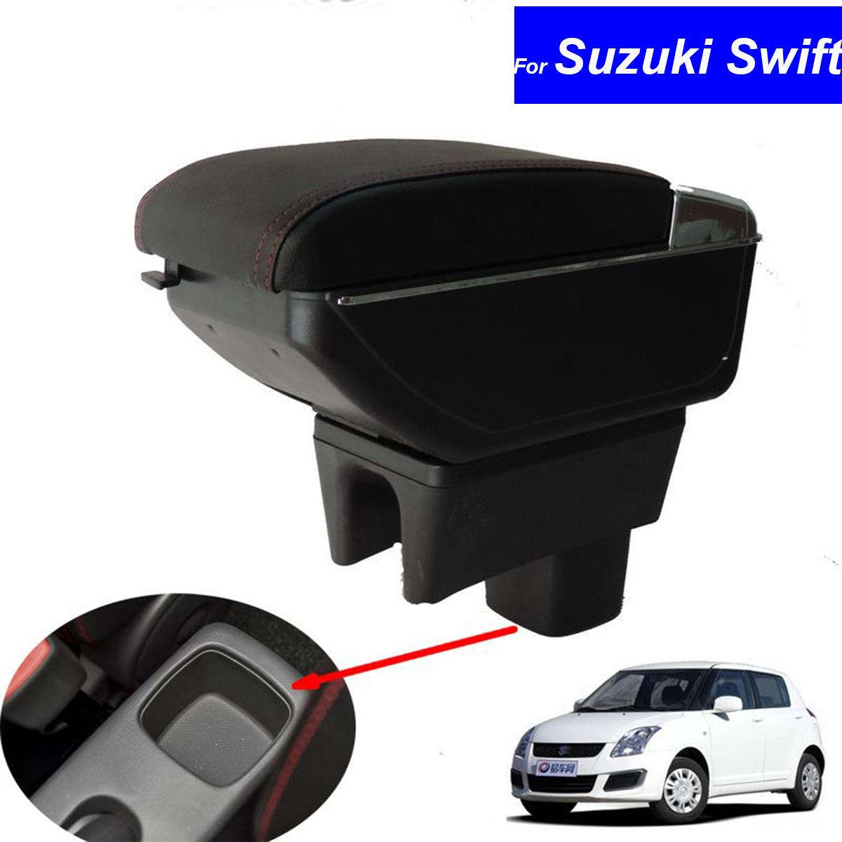 Leather Car Center Console Armrest Box For Suzuki Swift 2008 2009 2010 2011 2012 2013 2014 2015 2016 Armrests Interior Accessories For Cars Interior ...