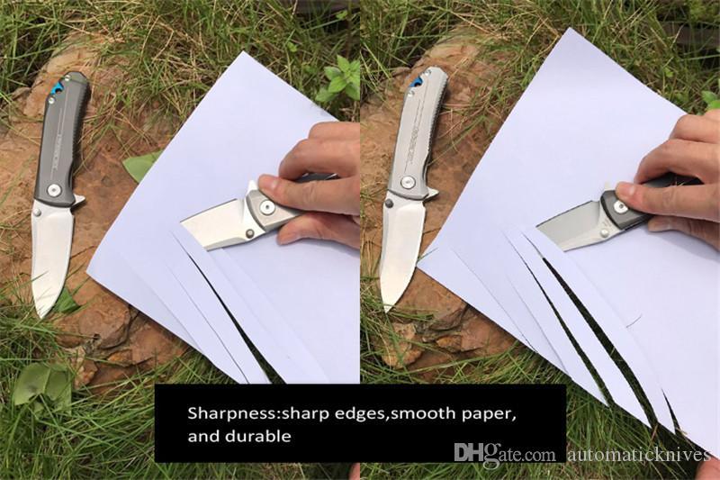 MIKER Coltello tascabile 9CR18MOV lama pieghevole Coltello da caccia in acciaio al titanio con impugnatura in vetro Coltello da campeggio all'aperto Survival Strumenti EDC