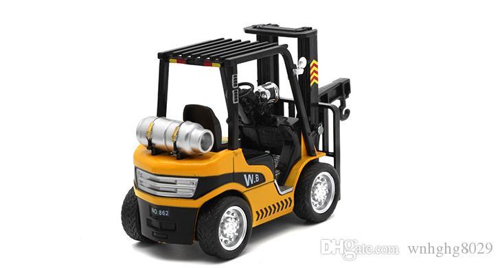 رافعة شوكية شاحنة البلاستيك نسخة الشوك مستودع فان مع هيئة سبائك خفيفة الصوت وإرسال اللعب البليت للأطفال