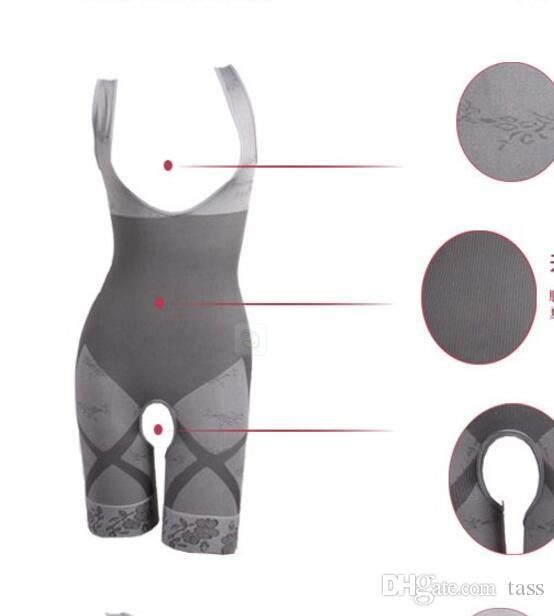 Top Quality Bamboo Charcoal Sculpting Underwear Women's body shaper Slim Corset Slimming Suits Bodysuit Shapewear