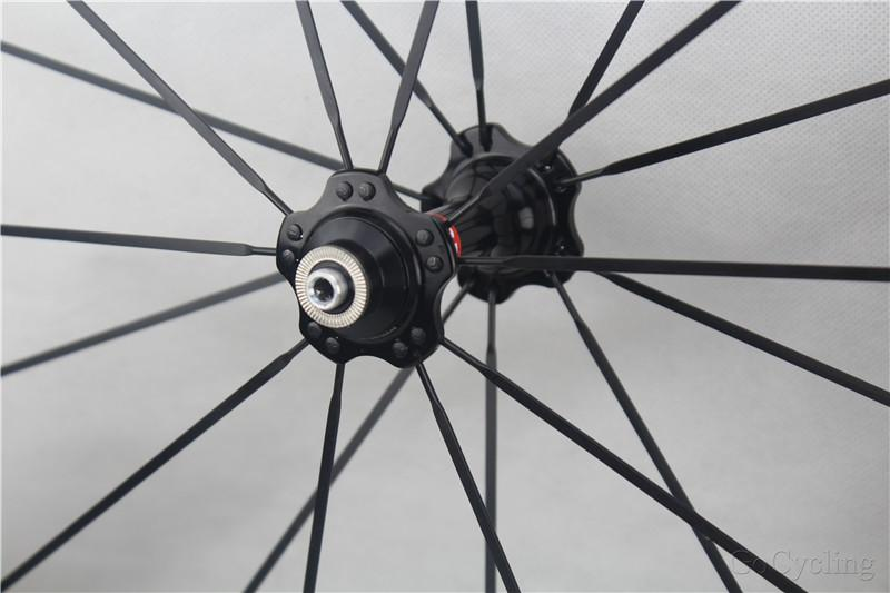 Carbon bicycle wheels 60mm 3K matt no decals sticker basalt brake surface clincher tubular road cycling bike wheelset with novatec hubs