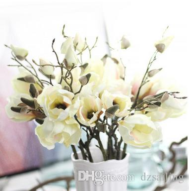 2018 magnolia stem flower wholesale retro silk flowers artificial magnolia stem flower wholesale 3 colors retrog mightylinksfo Choice Image