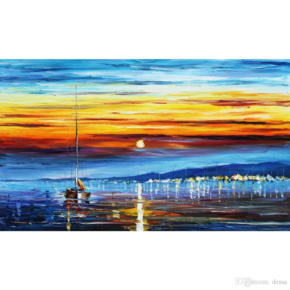 Compre Marinas Abstractas Pinturas Al Oleo Artisticas Leonid Afremov