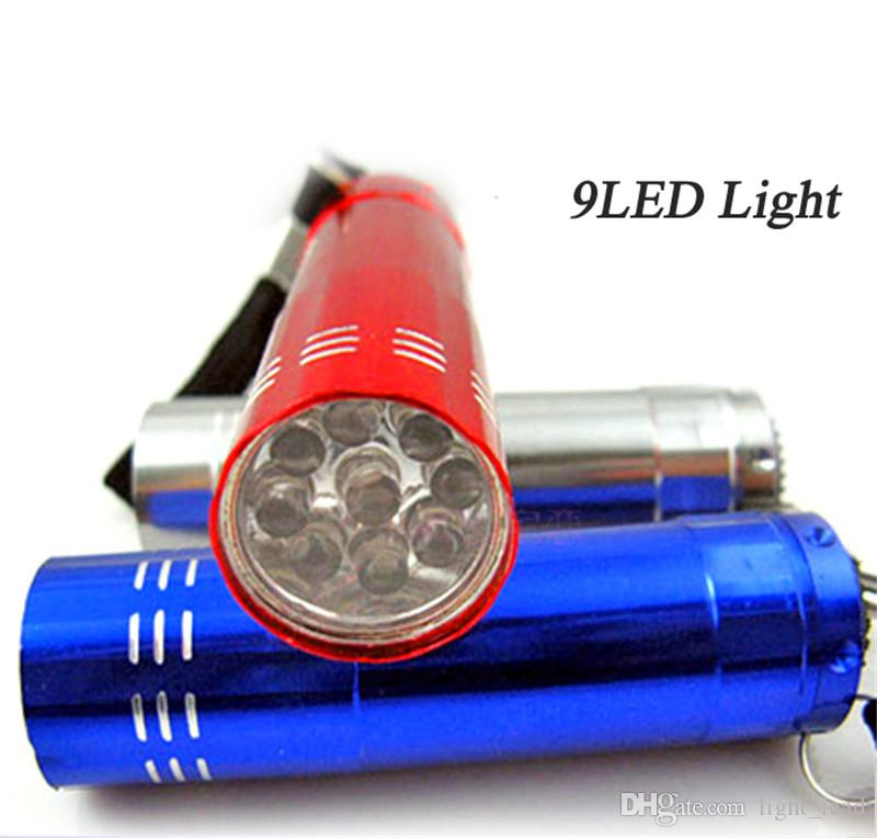 LED Flashlight Waterproof Light Lamp Outdoor Wholesales Mini 9 Small Lights Lamp high power for camping