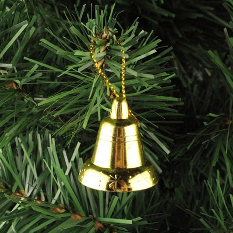 Wholesale 30mm Metal Golden Silver Bell Christmas Trees Decor ...
