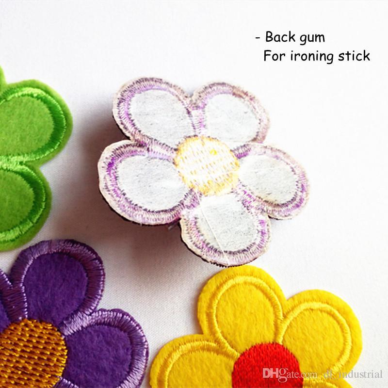 Stickerei Patch Sonnenblume Form Eisen Patch Tuch zurück Gummi Applikationen Rock Jeans Jacke Racksack Nähen dekorative Accessoires DL_CPIF007
