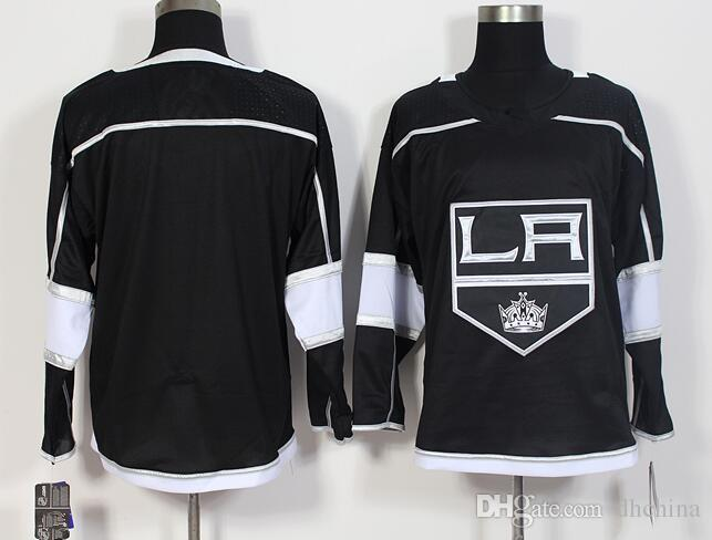 quality design 2a466 3e1db New LA Kings Jersey Blank No Name NO Number 2017 New Hockey Jerseys Black  Color Size M-XXXL Mix Order #32#11 #8 High Quality All Jerseys