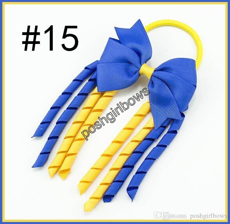 Spedizione gratuita 50 pz 3.5''X6 '' funky Korker Capelli Archi Colorati Korkers girandola Korker Arcobaleno archi