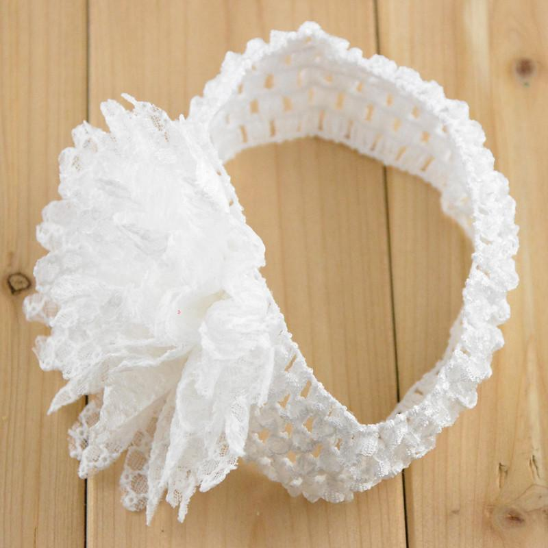 high quality handmade Children's hair accessories States sell Lace sunflower hair band Headband with knitting FD16
