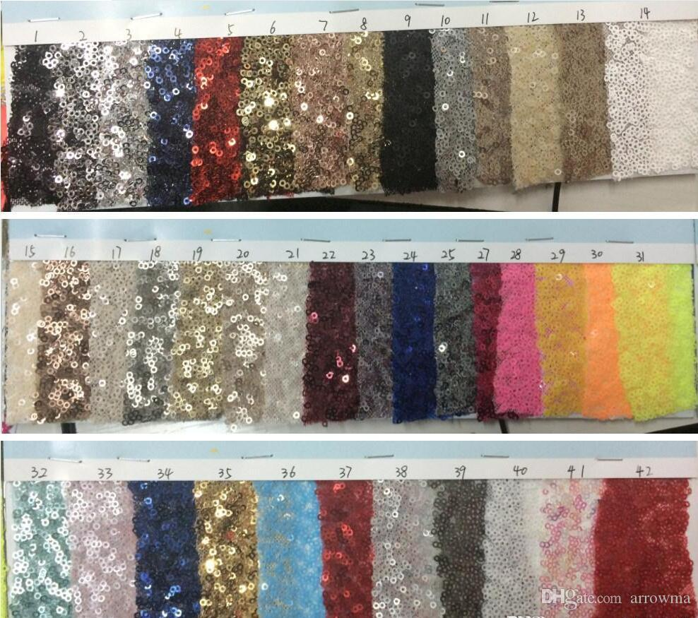 """1Yard 3mm Sequin Dress Fabric 48"""" With Sequin Fabric Custom Length Swatch Sample For Bridesmaid /Prom/Eveninig Royal Blue/Gold/Silver Etc."""
