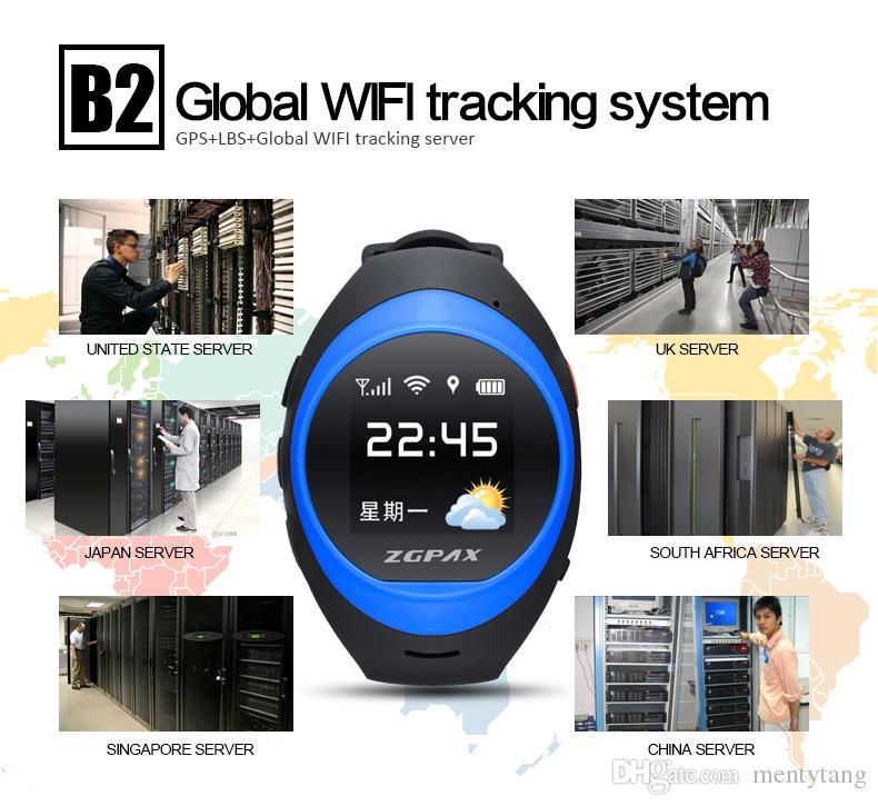 ZGPAX S888 Bluetooth Wasserdichte Smart Uhr Kinder Elder SOS GPS Tracking Smartwatch Anti-verlorene Alarm iOS Android Telefon für Old Kid Geschenk