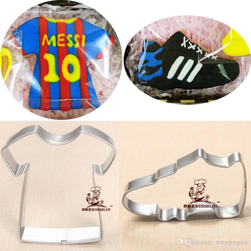 Sport Shirt Sneakers reposteria patisserie Cookie Cutters Metal Fondant Cake Decor Cupcake Toppers Sandwich Pastry Mould
