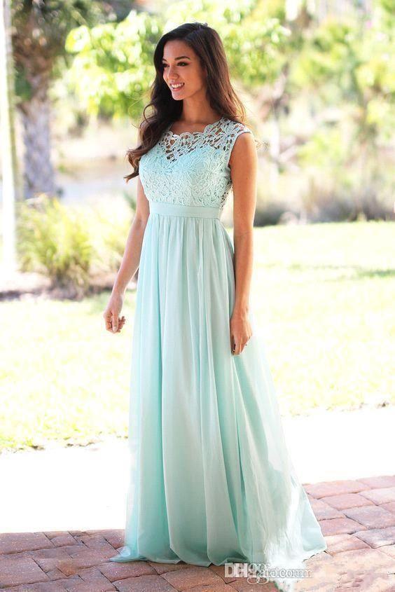 2020 Allık Dantel Gelinlik Modelleri mücevher Kolsuz Wedding Guest Elbise Şeffaf Fermuar Geri Tren şifon Ucuz Örgün Abiye Sweep