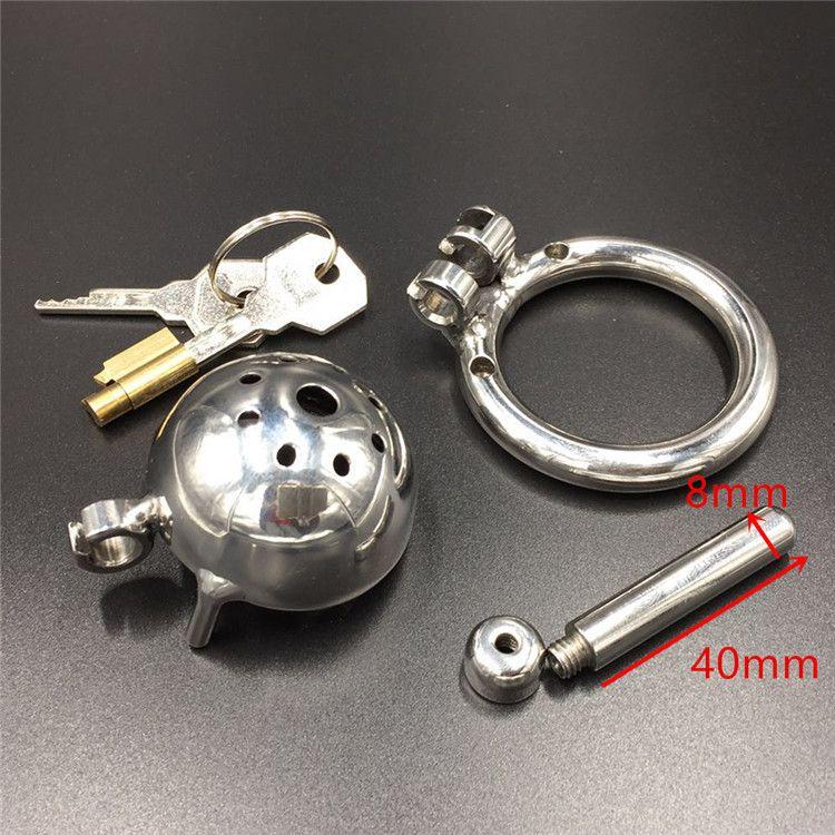 New Lock Design 25mm Gabbia Lunghezza Acciaio inossidabile Super Small Maschile Chastity CB Dispositivi 1