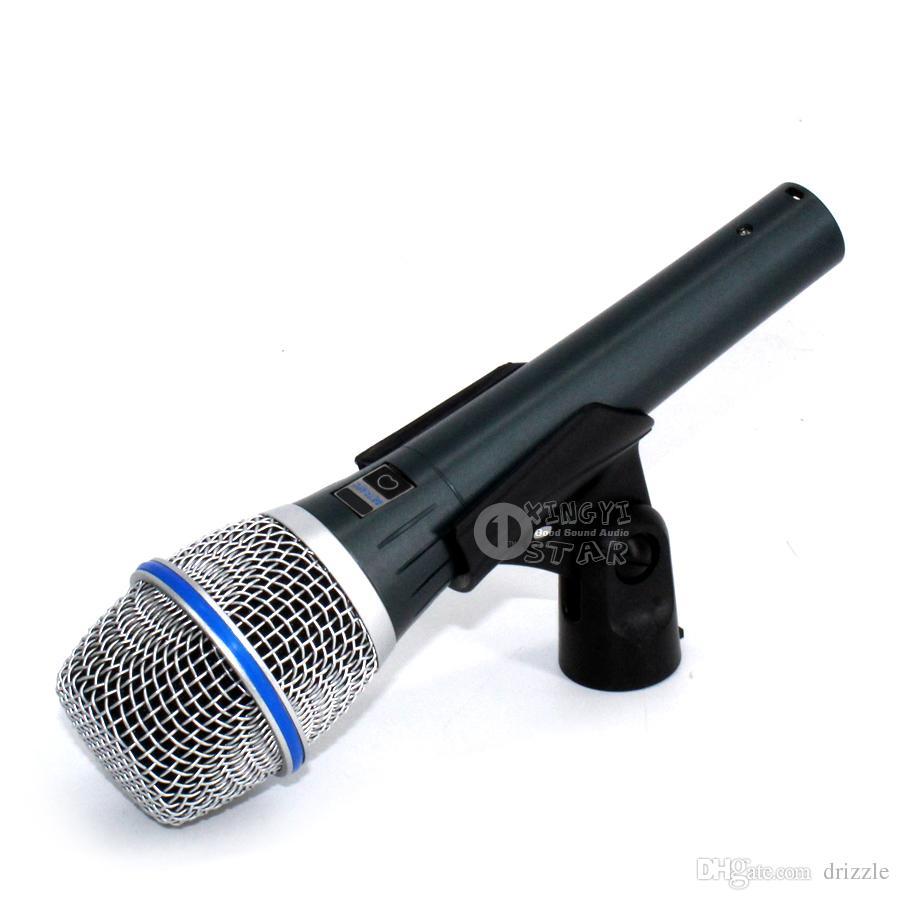 Gratis frakt beta87c beta 87c Wired Dynamic Microphone Professional Microfono Vocal Mic Beta87a Beta 87 Cardioid Flytta Spolen Mike Microfone
