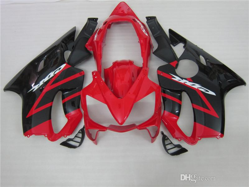Hot moto parts fairing kit for Honda CBR600 f4I 04 05 06 07 red black fairings set CBR600F4I 2004-2007 OT09