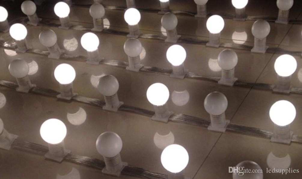 Сид 3M 18bulbs DC 24V низковольтные огни строки шатер открытый водонепроницаемый лампа e27 светодиодные лампы