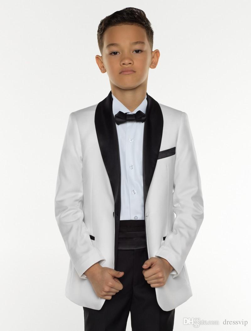 Jungen Smoking Boys Dinner Suits Jungen Formelle Anzüge Smoking für Kinder Smoking Formelle Anlässe Weiß Und Schwarz Anzüge Für Kleine Männer Drei Stücke