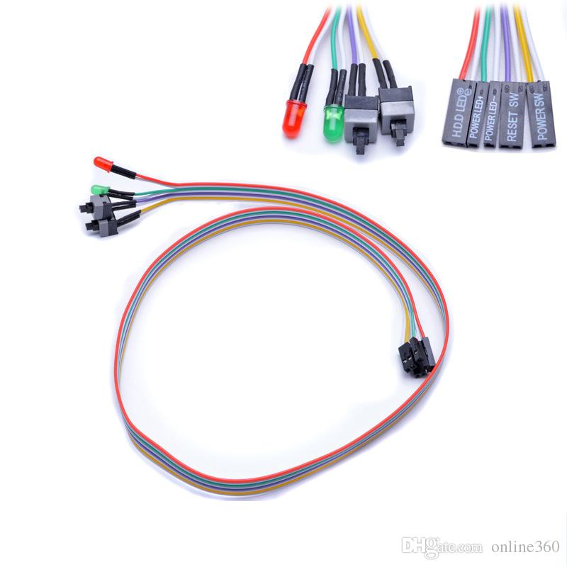 Host Motherboard Power Cable Adapter Cord Computer Mainframe Replacement ON/OFF Switch Reset SW Cable Connector HDD LED 2 Switch