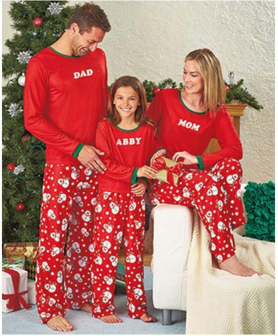 2017 Christmas Pajamas Family Matching Clothes Dad Mother Daughter ...
