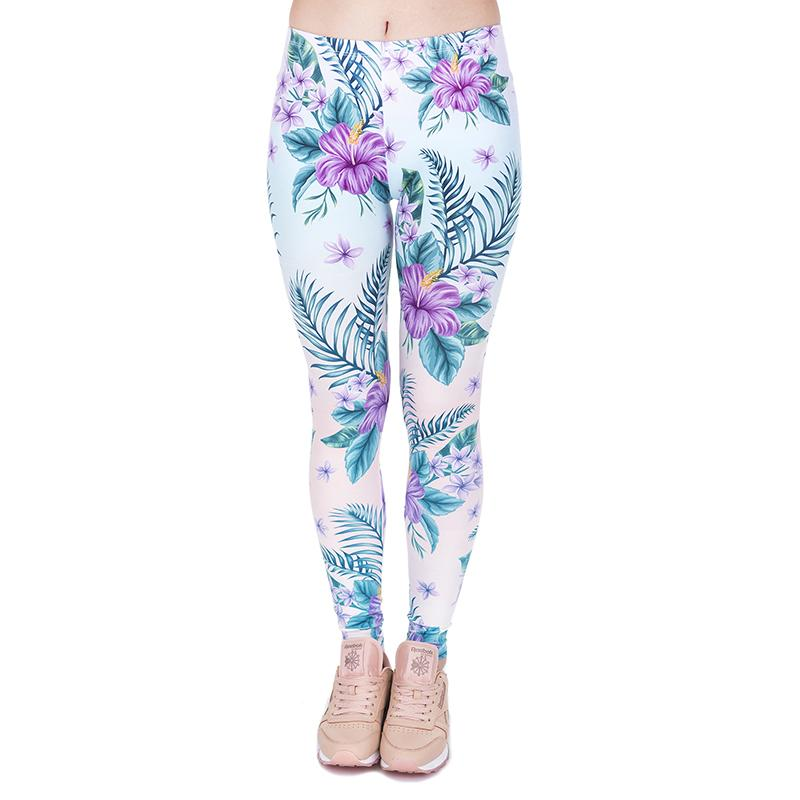 fd50fc4deb 2019 Girl Leggings Tropical Flower Floral 3D Graphic Full Print Women Skinny  Stretchy Casual Yoga Pants Lady Colorful Pattern Trousers J44029 From  Joybeauty ...