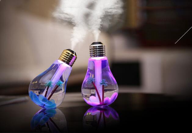 Life Plastic Luftbefeuchter USB Lampe Luftbefeuchter Home Aroma LED Luftbefeuchter Luftverteiler Luftreiniger Auto und Haushalt Mute ABS