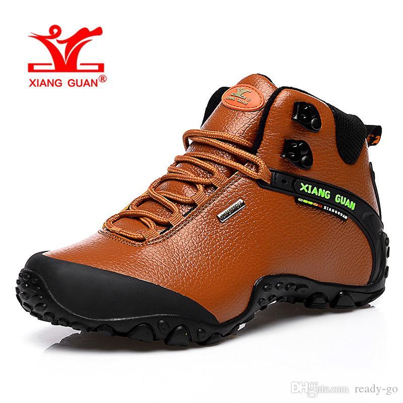 4b7db9be2e Stivali invernali da trekking impermeabili da uomo per scarpe da trekking  atletiche da donna alte in pelle Scarpette da arrampicata sportive da ...