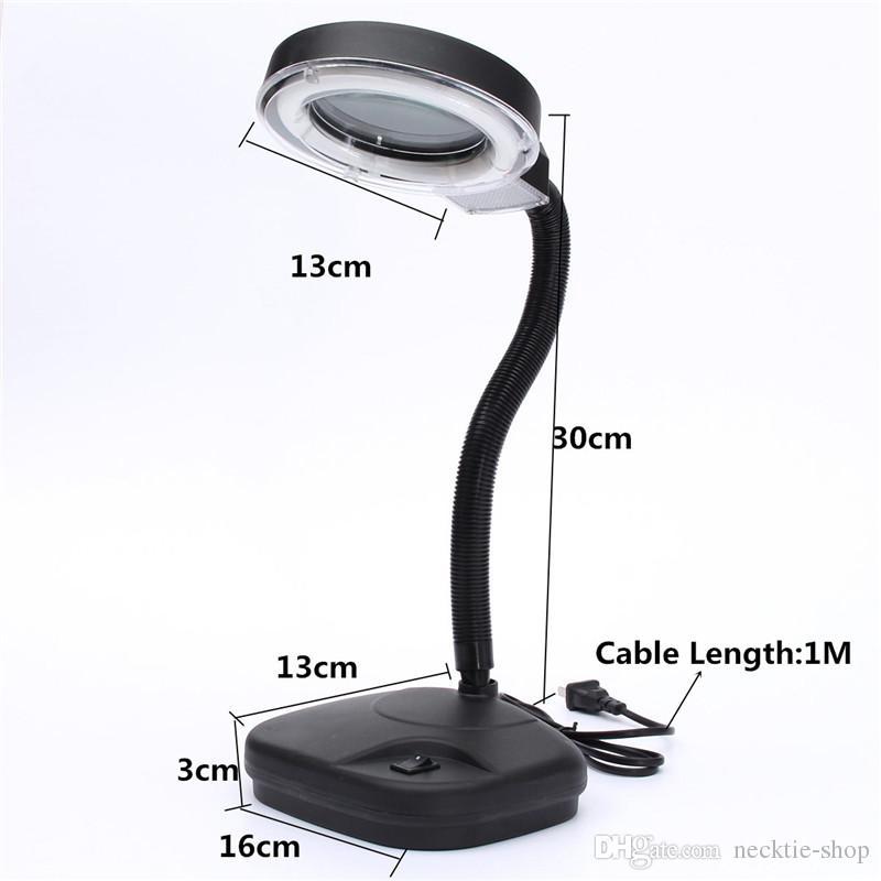 5-10X Lampada da lettura portatile pieghevole a LED da tavolo Lampada da studio a luce notturna + strumento la riparazione di orologi con lente di ingrandimento