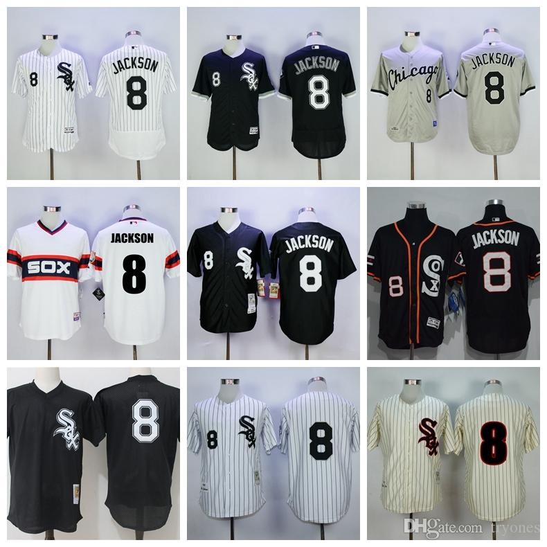 0dbe931a ... 2017 Throwback Chicago White Sox Bo Jackson Baseball Jersey Cool Base  1993 Cooperstown Mesh Batting 8 ...