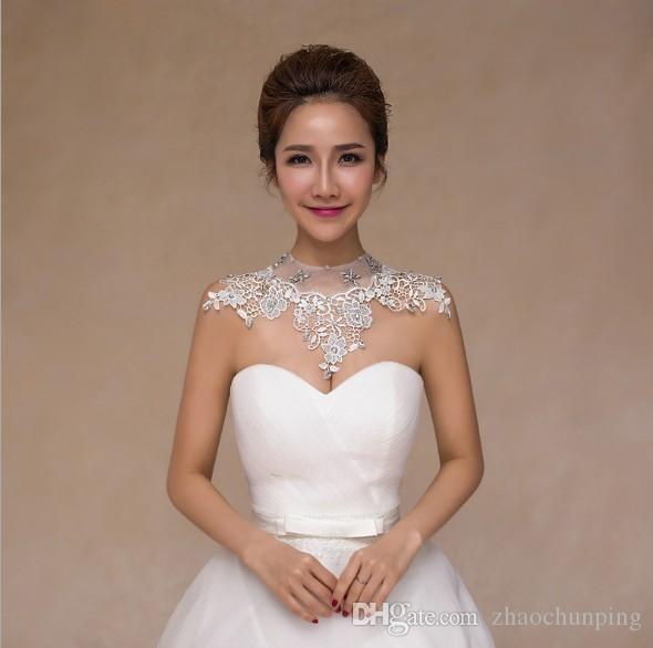 Bride Lace Wedding Diamond Necklace Jewelry Chain Shoulder Korean ...