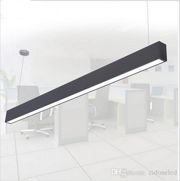 rectangular pendant light. 118cm Offfice Led Pendant Light Rectangular Aluminum Hanging Lights Modern Bar Lighting Silver Black Fixture Brushed Nickel P