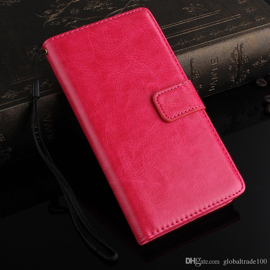 Lüks Deri Cüzdan Flip Case Sony Xperia Z3 Z4 Z5 Durumda Telefon Arka Kapak Kart Tutucu Standı En İyi Kalite