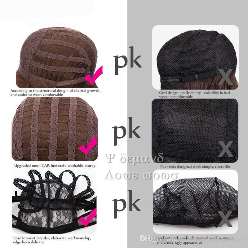 Larga onda Ombre gris peluca brasileña pelucas de cabello humano similar para las mujeres negras sin cola de agua ninguno encaje sintético pelucas envío gratis