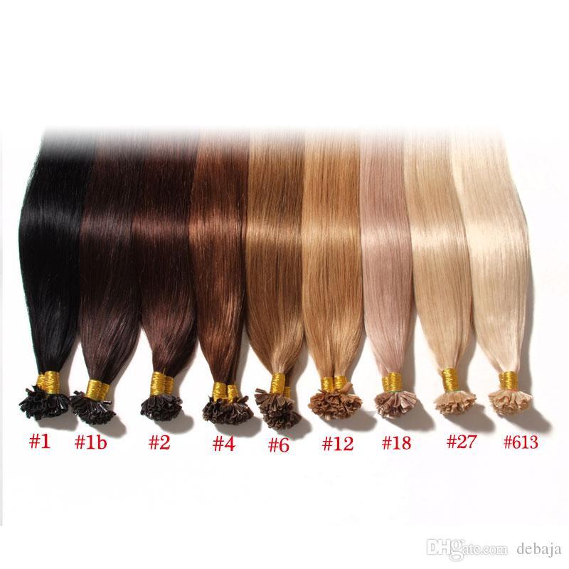 Keratin u tip human hair extension cheap brazilian human hair see larger image pmusecretfo Images