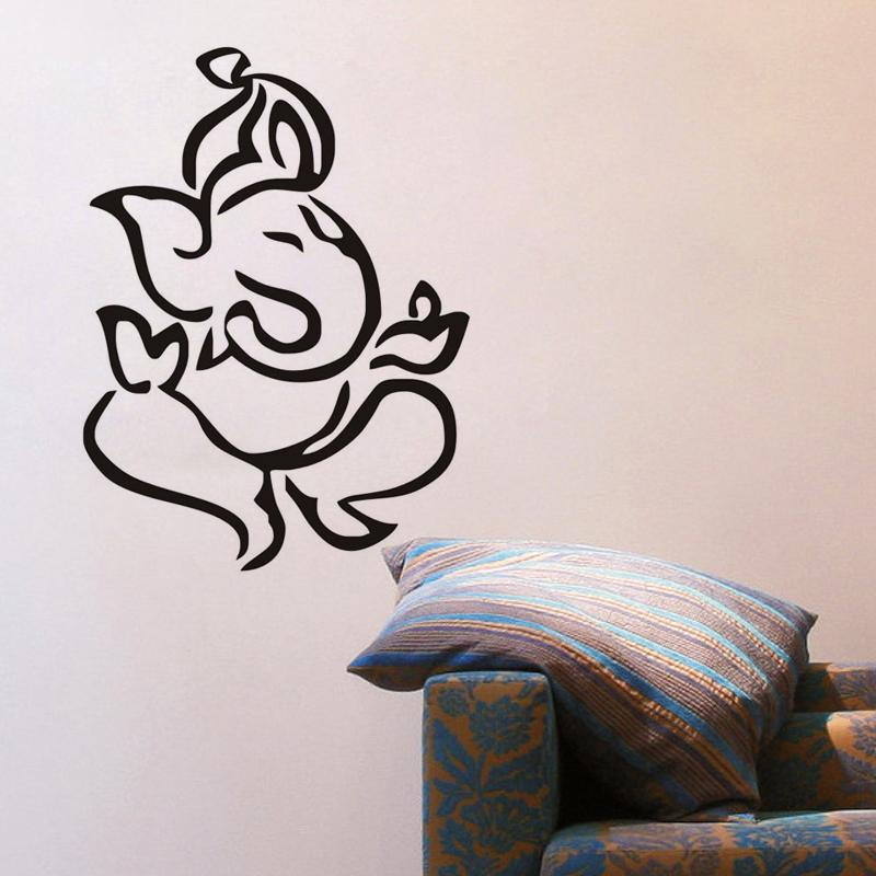 indian ganesha wall stickers home decor living room self adhesive