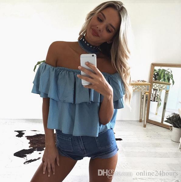 Moda Denim Womens Clothing Accessories Estrellas Gargantilla Collar Colgantes Borla Fringe Vintage 2017 Verano Beach Night Club Denim Collar
